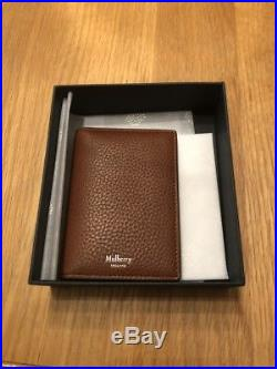 Genuine Brand New Mulberry Oak Brown Leather Mens Wallet In Box With Receipt