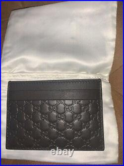 Gucci Card Holder Brown Leather GG Wallet Men & Women RRP £200