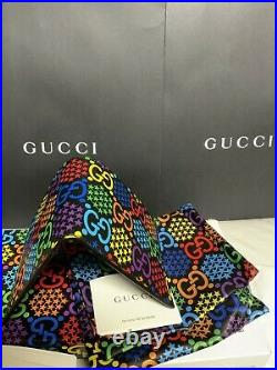 Gucci GG Psychedelic Print Mens Wallet Full Set 2 Boxes Papers And 2 Dust Bags