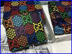 Gucci GG Psychedelic Print Mens Wallet monogram Guaranteed Authentic 2020 NEW