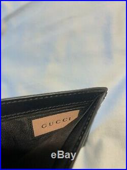 Gucci Ghost Mens Black Leather Wallet Trouble Andrew Graffiti