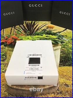 Gucci Men Wallet Black Leather With ID Window Slot Brand New COMPLETE SET