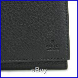 Gucci Men's Black Leather Long/Continental Wallet withZipper Pocket 296676 1000