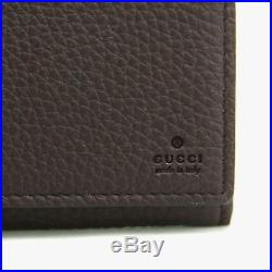 Gucci Men's Brown Leather Long/Continental Wallet withZipper Pocket 296676 2140