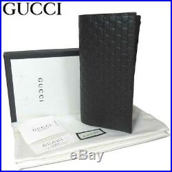 Gucci Men's Brown leather Micro GG Guccissima Vertical Wallet 544479