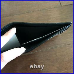 Gucci Men's Classic Black Leather Bi-Fold Wallet Current Season, Made in Italy
