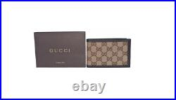 Gucci Men's GG Canvas Leather Bi Fold Wallet