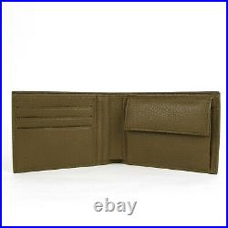 Gucci Men's Olive Green Leather Bi-fold Wallet with Logo Imprint 292534 2402