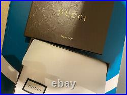 Gucci Mens 496948 Brown Micro GG Leather Bifold Vertical Passport Wallet