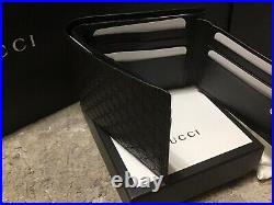 Gucci Mens Black Leather Wallet with ID window slot SOLD OUT limited edition