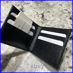 Gucci Mens GG Psychedelic Print Black Leather Limited Edition Bifold Wallet NWB