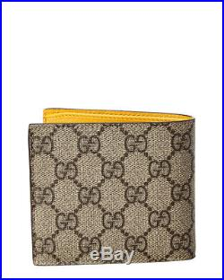 Gucci Mens Neo Vintage Gg Supreme Canvas & Leather Wallet, Brown