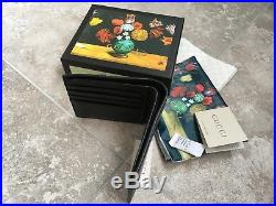 Gucci Mens Wallet Leather Gold GG Logo Bee Garden Made in Italy