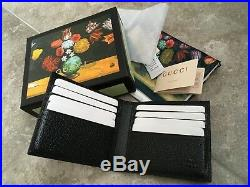 Gucci Mens Wallet Leather Gold GG Logo Made in Italy
