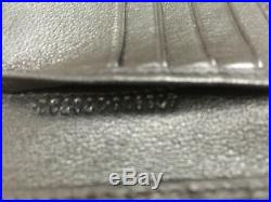 Gucci Mens Wallet Leather Silver GG Logo Made in Italy