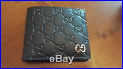 Gucci Signature BiFold Leather Wallet Black BRAND NEW GENUINE RRP £270