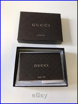 Gucci Signature Wallet Black Leather Mens Immaculate Condition