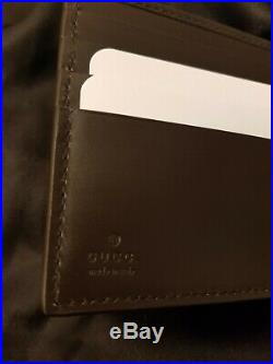 Gucci signature web mens wallet brown brand new with original packaging