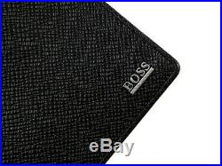 HUGO BOSS Wallet Black Calf Leather Mens Bifold 50311739 001 Auth Womens Gift