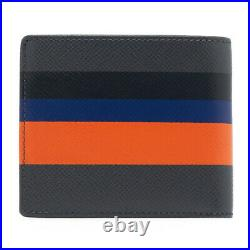 HUGO BOSS Wallet Gray Calf Leather Mens Bifold 50407210 023 Womens Gift Auth