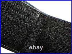HUGO BOSS Wallet Navy Calf Leather Mens Bifold 50402579 420 Womens Auth Gift