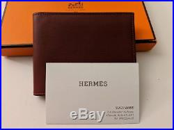 Hermes Citizen Twill Compact Wallet Prune Swift Leather