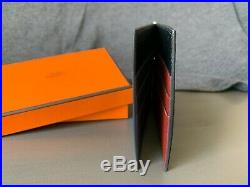 Hermes Mens Poker Compact Wallet Rare Multi-Color interior