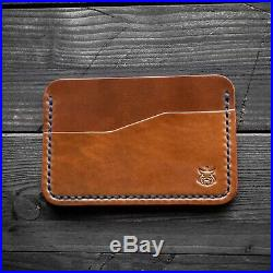 Horween Shell Cordovan leather mens black minimalist travel wallet card holder