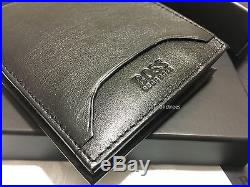 Hugo Boss Wallet'50248816-adonide' Bi Fold Black Leather Coin Note Gift Boxed