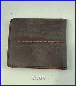 Isaia Napoli Mens Card Holder Wallet- Grey Authentic Branded