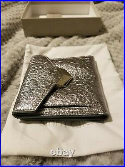 Jimmy Choo genuine real leather silver wallet mens