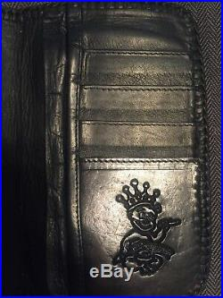 King Baby Leather Wallet with Stingray Cross (WALLET CHAIN SOLD SEPARATELY)
