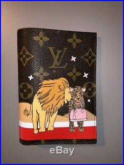 LOUIS VUITTON Passport Cover special collection Christmas Animation Lions Cat
