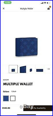 Louis Vuitton Mens Spring Wallet. 2019. Authentic. With Multiple Receipts