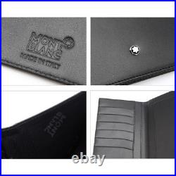 MONTBLANC Meisterstuck Leather Long Wallet 6cc 35790 Mens Bifold Black Gift