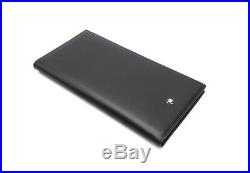 MONTBLANC Meisterstuck Men's Leather Long Wallet 6cc #35790 + Free Tracking No