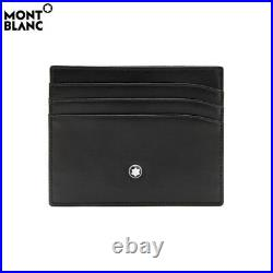 MONTBLANC Meisterstuck leather 6cc Credit Card Holder 106653 Mens Wallet New