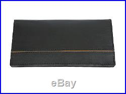Men's Genuine Leather Bifold Wallet Purse Business Credit Holder Black New