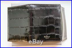 Men's Mulberry trifold wallet in Black Croc leather New & boxed (100% genuine)
