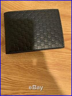 Mens Gucci Navy Blue Classic GG Leather Wallet