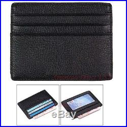 Mens Leather Wallet Money Credit Card ID Holder Front Pocket Thin Slim NEW US