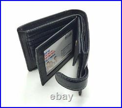 Mens Luxury Soft Quality Leather Wallet Purse Credit Cards Coins New Black Uk