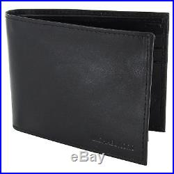 Michael Kors Jet Black Passcase Leather Money Wallet for Mens With Gift Box XMAS