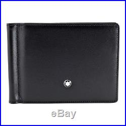 MontBlanc Meisterstuck 6 CC Mens Leather Wallet With Money Clip