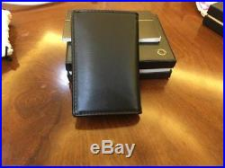 Montblanc Business Card Gusset Leather Wallet Black MADE IN ITALY