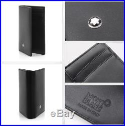 Montblanc Meisterstuck Business Card Holder Men's Small Leather Wallet 14108