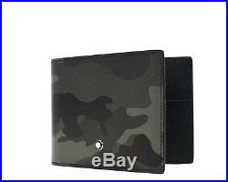 Montblanc Sartorial Wallet Money Clip Camouflage Saffiano Leather Grey New