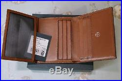 40a8ad5af9 Mulberry Trifold Wallet Oak Natural Grain Leather 100 % genuine Boxed with  tag