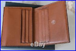 Mulberry Trifold Wallet Oak Natural Grain Leather 100 % genuine Boxed with tag