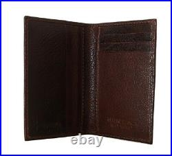 NEW $450 BILLIONAIRE COUTURE Mens Moro Brown Leather Bifold Logo Money Wallet